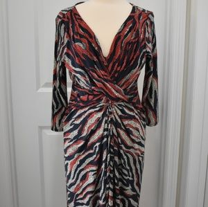 Calvin Klein print dress size 12